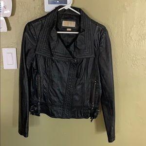 Michael Kors Black Leather Jacket Size M